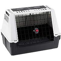 Ferplast ATLAS CAR 80 - Transportín para Perros para automóvil, Rejillas de ventilación, Compartimentos portaobjetos, Alfombrilla de Drenaje