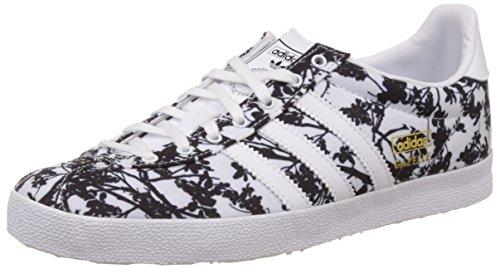 adidas Gazelle Og Damen Sneakers, Weiß (Footwear White/Footwear White/Core BlackFootwear White/Footwear White/Core Black), 42