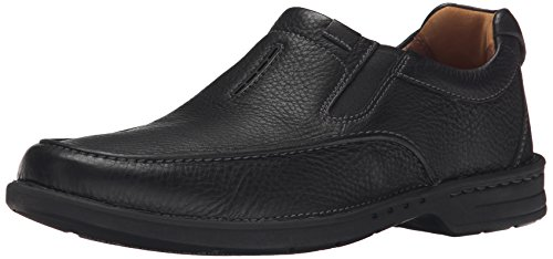 Slip Couro Einfach Untilary Clarks Preto on Loafer SxaUwFw1