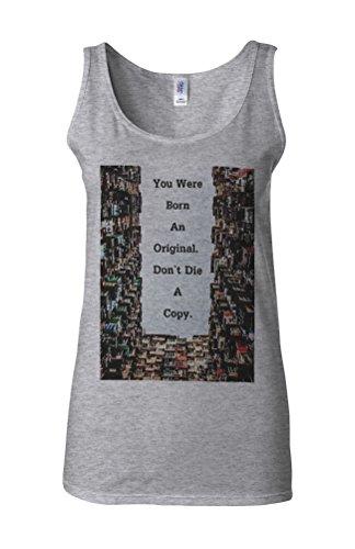 Born Original Do Not Die Copy Cool Novelty White Femme Women Tricot de Corps Tank Top Vest Gris Sportif