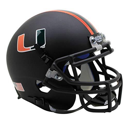 Schutt NCAA Miami Hurricanes Mini Authentic XP Football Helmet, ALT 7