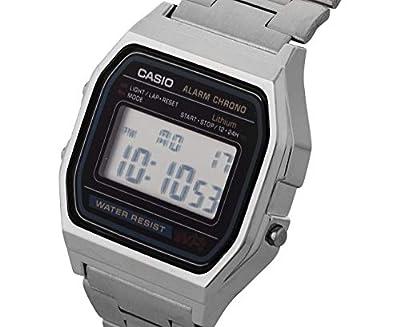 Casio A158WA-1DF - Reloj digital de cuarzo para hombre con correa de metal, color plateado de Casio