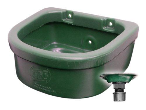 JFC EQ1 Futtertrog für Pferde - Wandmodell - 15 Liter - dunkelgrün
