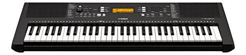 Yamaha PSR-E363 - Clavier électronique avec toucher dynamique - Instrument de musique portable pour débutants exigeants - Noir