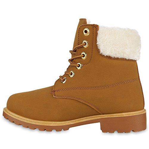 Worker Boots Unisex Damen Herren Outdoor Stiefeletten Zipper Warm Gefüttert Hellbraun Gelb