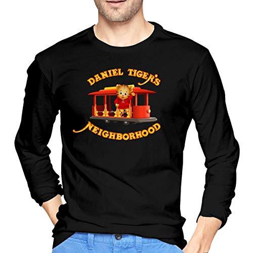 Maglie a manica lunga, uomo, polo e camicie,camicie casual, daniel tiger's neighborhood mens long sleeve t-shirt black