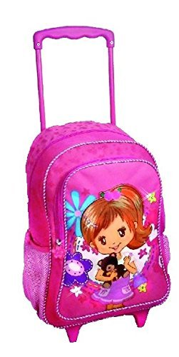 STEFANO Trolley Kindertrolley Kinderreisetasche Kinderkoffer pink rosa