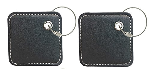 key chain cover for tile mate skin phone finder key finder item finder with accessory to have a dress outfit fashion look(only case, NO tracker included) black X2 (Loop Case Pack)