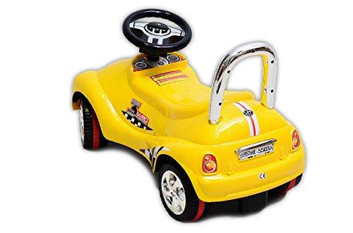 Best For Kids C4932Y Top Rutscher Auto Autorutscher mit ELEKTRONIK Porsche Rutscherfahrzeug - Gelb - 3