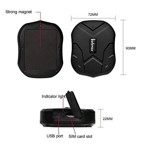 TKSTAR GPS-Tracker 3G Wasserdichtes Tracking-Gerät mit leistungsstarkem Magnet Standby-GPS-Tracker Locator für Fahrzeuge (SIM-Karte Nicht enthalten)