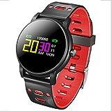 Reloj inteligente multifuncional fitness Tracker con monitor de ritmo cardíaco, toque impermeable actividad Tracker usable al aire libre pulsera inteligente podómetro seguimiento del sueño,002