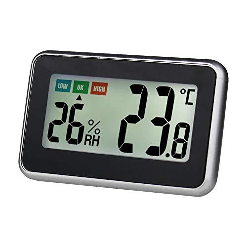 Desirabely Digitales Thermo-Hygrometer mit größerer Hintergrundbeleuchtung, Temperatur- und Luftfeuchtigkeitsüberwachung für Komfortables Arbeiten zu Hause und im Büro, Min/Max-Aufzeichnung