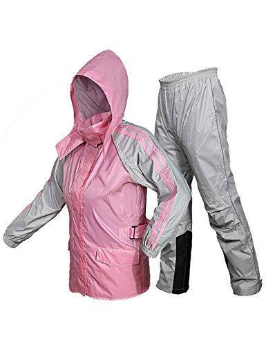 Impermeabili Impermeabile Tuta Impermeabile E Traspirante Impermeabile Portatile E Pantaloni da Pioggia per Uomo E Donna Adulti Lavoro All'Aperto Campeggio...