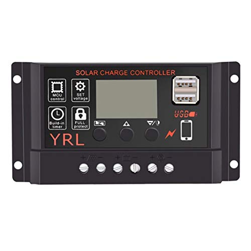 10A / 20A / 30A / 40A / 50A / 60A Dual USB Solar-Panel-Controller Batterie-Laderegler 12V / 24V Auto mit -