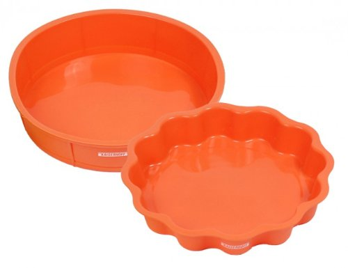 2-tlg. Silikon Backform Set - Blume & Tortenform - Silikonbackform - Kuchenform Blumen Form - Kuchenbackform - Tortenform - Tortenboden