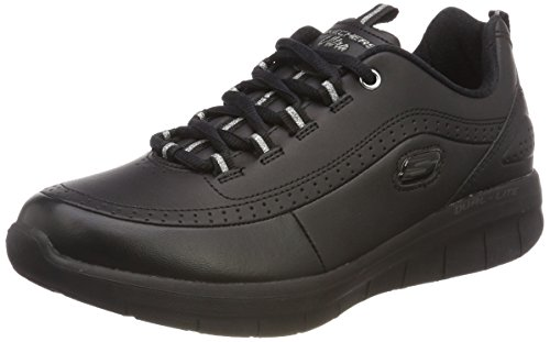 Skechers Synergy 2.0, Sneaker Donna, Nero (Black), 39 EU