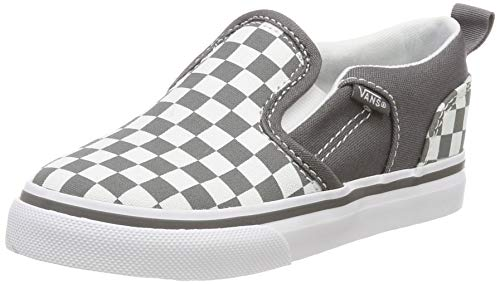 Vans Baby Asher V Toddler Unisex Sneaker, Grau ((Checkered) Pewter/White Vi1), 26.5 EU