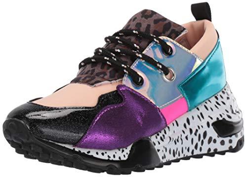8504c73db43 Steve Madden Girls' JCLIFF Sneaker Rainbow Multi 2 M US Little Kid