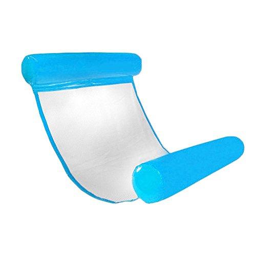 Seasaleshop Wasser Hängematte Pool Liege Float Hängematte Aufblasbare Flöße Swimming Pool Air Lightweight Floating Chair Kompakte und Portable Schwimmbad Matte mit Pumpe für Erwachsene und Kinder