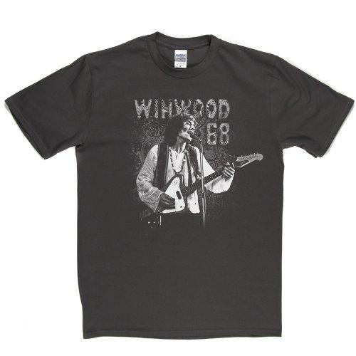 Steve Winwood 68 English Rock Blue-Eyed Soul Rhythm & Blues Tee T-shirt Grau