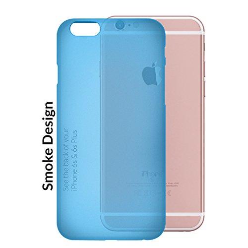 Orzly® - FlexiSlim Case für Apple iPhone 6 & 6S (2014 & 2015 Version) - Super Slim (0,35 mm) Schutz-Abdeckung - Halbtransparent SCHWARZ BLAU FlexiSlim für iPhone 6 & 6S