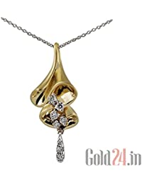 Lurie Jewellery Gold Pendant With Chain With Diamonds