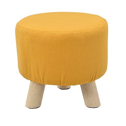 [en.casa]®] Taburete Redondo Puff Elegante Asiento tapizado Color Mos