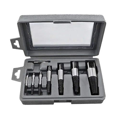 Yardwe 8 Stück Easy Out Screw Extractor Set Beschädigte Schraube Gebrochene Bolzen Wasser Rohr Entferner Set mit Tragetasche Torx-Schraubendreher