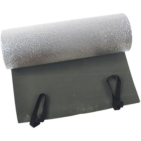 Fox Outdoor BW Discount- Tappetino arrotolabile, 200 x 50 x 1 cm, colore: verde oliva, con strato di alluminio - 50 Verde Oliva