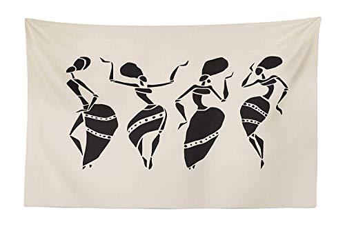 Stammes-Tapisserie, afrikanische Frau Figur in ethnischen traditionellen historischen Kostümen Kultur und Schönheit, Stoff Wand hängen Dekor für Schlafzimmer Wohnzimmer (Stammes Ethnischen Kostüm)