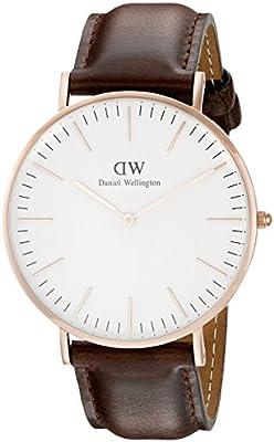 Daniel Wellington 0109DW - Reloj con correa de acero para hombre, color blanco / gris