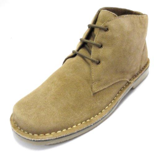real suede retro mod desert boots (8, beige)