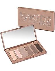 URBAN DECAY Naked2 Basics TRAVEL SIZE Eyeshadow Palette 6 shades x 1.3g