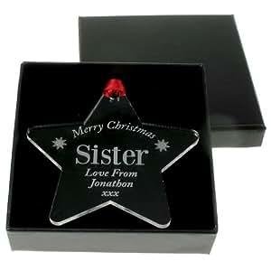 weihnachtsstern dekoration f r ihre schwester weihnachtsmotiv f r die schwester besonderes. Black Bedroom Furniture Sets. Home Design Ideas