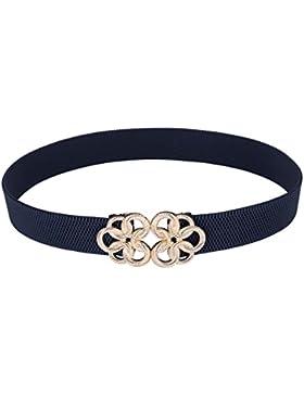 GRACE KARIN Cinturones de Mujer Marca a Cintura Elástico con Hebilla de Hoja de Floral 5 Colores ES010412