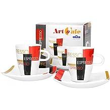 Unterteller Arzberg Tric Untertasse f/ür Espressotasse 110 ml Teller 10 cm 49700-670186-14721 Hot Porzellan