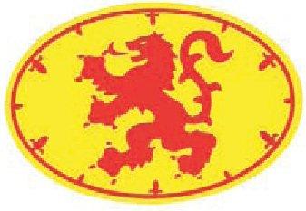 Scottish Lion Rampant Flag Oval Vinyl Car Sticker Decal