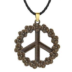 Chandler Herren-Halskette mit Anhänger Slawisches Friedens-Symbol Pazifismus Blume für Frauen Schmuck Zubehör Wikinger Amulett Halskette