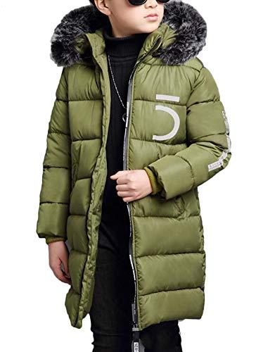 SMITHROAD Jungen Winterjacke mit Kapuze Jacken Outerwear Blouson Kinder Kapuzenparka Warm Blouson Wintermantel Jacket Mantel Parka Oberbekleidung Winter Kleidung