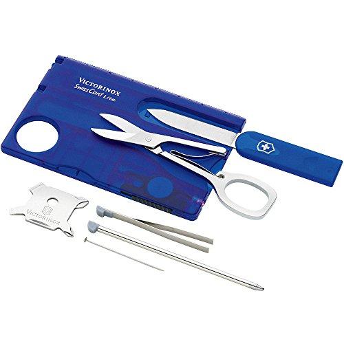 Victorinox SwissCard Lite bleue transparent