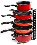 EverEx™ Adjustable pan and Pot Rack Holder Plate Dish lid Tray Utensils cookware Cupboard Storage Shelf Shelves Organiser...