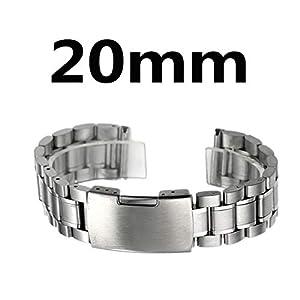 Zeiger Unisex Edelstahl Uhrenarmband Faltschließe 20mm