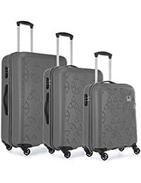 Revelation Revelation Suitcase Echo, 4 Wheel Spinner, Set of 3, 79 cm 100 L, Charcoal Valise, cm, liters, Gris (Charcoal)