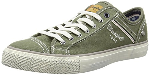 Wrangler Starry Low Canvas, Baskets Basses homme Vert - Grün (20 MILITARY)