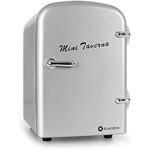 Klarstein Mini Taverna mininevera portátil (4 L de capacidad, ligera, asa de transporte plegable, refrigeración y mantenimiento de calor, funcionamiento silencioso) -