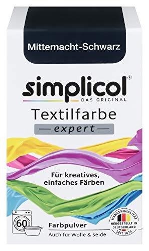 Simplicol Textilfarbe expert Mitternacht-Schwarz 1718: Farbe für kreatives, einfaches Färben in der Waschmaschine oder ()