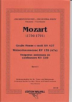 ORCHESTERSTUDIEN 2 MESSEN REQUIEN - arrangiert für Posaune [Noten / Sheetmusic] Komponist: MOZART WOLFGANG AMADEUS