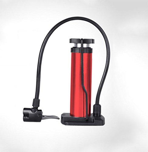 RUIX Hochdruck Standpumpe (Fahrradpumpe, Luftpumpe Für Fahrrad Und Für Luftmatratze) Hochdruck Standpumpe ,Red