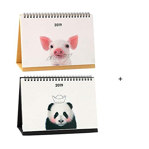 ZCF Kleiner Kalender Kreativer Tischkalender Notizblock Kleiner frischer Plan Dieser Stil Desktop-Ornamente mit 2019 Kalendern (Mit Desktop-kalender Staffelei)