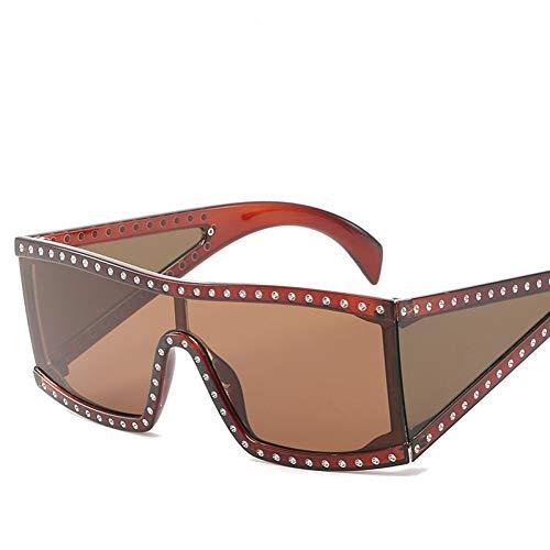 CHENGZI Übergroße Schild Sonnenbrille Goggle Einteilige Linse Große Sonnenbrille Frauen Mit...